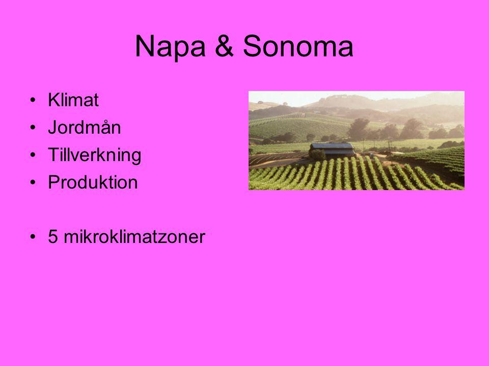 Napa & Sonoma Klimat Jordmån Tillverkning Produktion