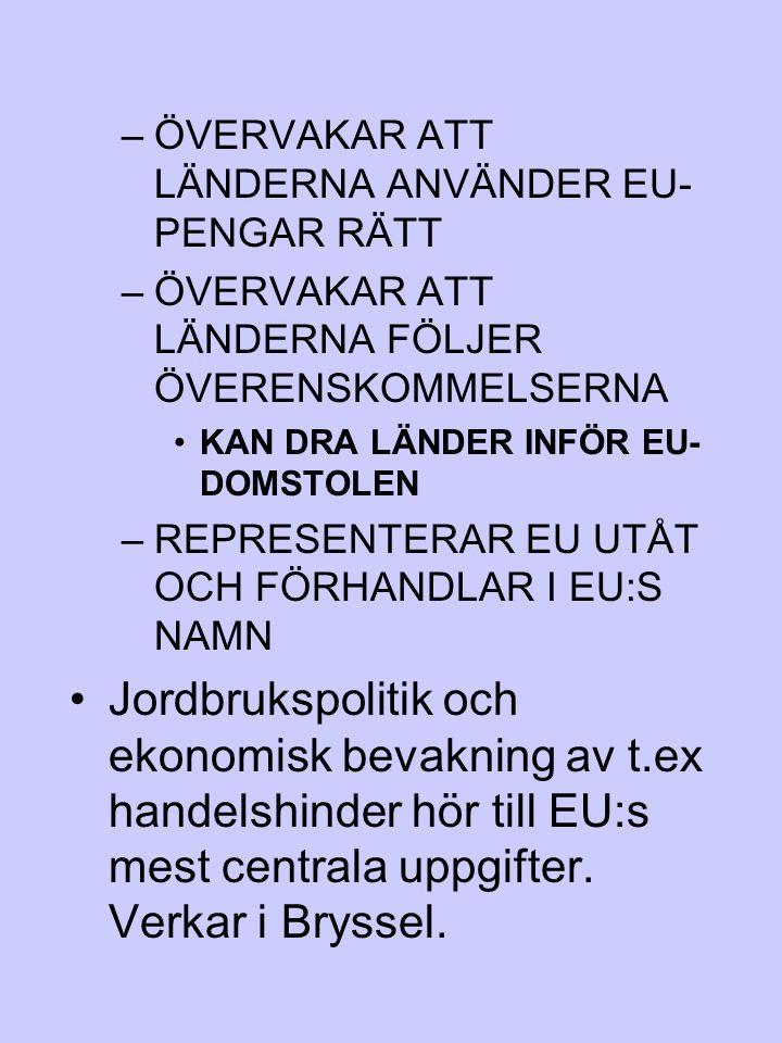 ÖVERVAKAR ATT LÄNDERNA ANVÄNDER EU-PENGAR RÄTT