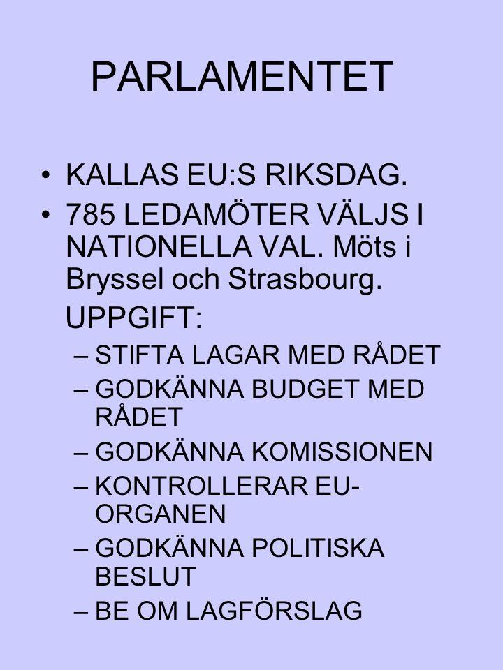 PARLAMENTET KALLAS EU:S RIKSDAG.