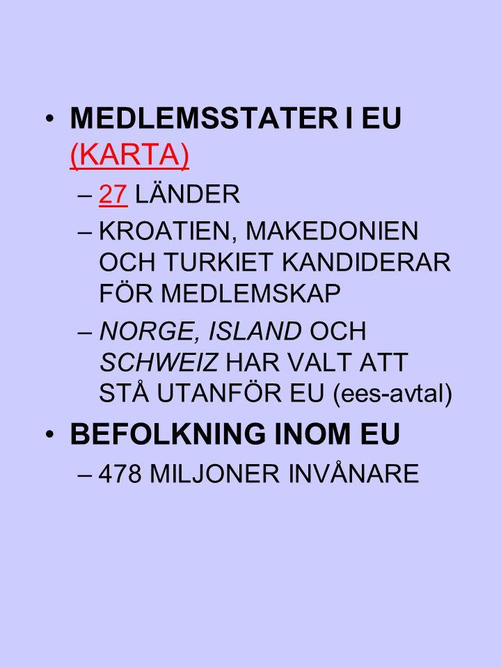 MEDLEMSSTATER I EU (KARTA)