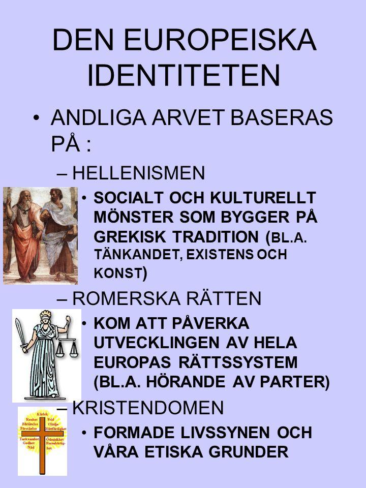 DEN EUROPEISKA IDENTITETEN