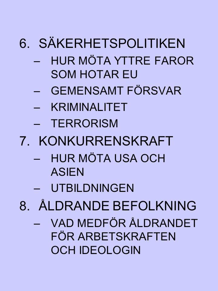 SÄKERHETSPOLITIKEN KONKURRENSKRAFT ÅLDRANDE BEFOLKNING