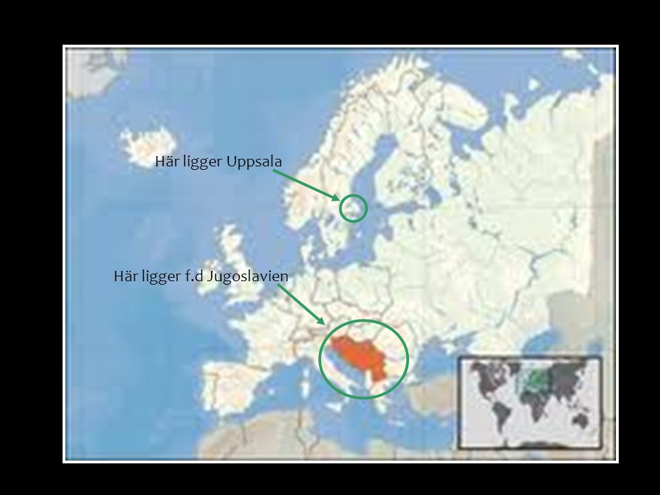 Här ligger f.d Jugoslavien