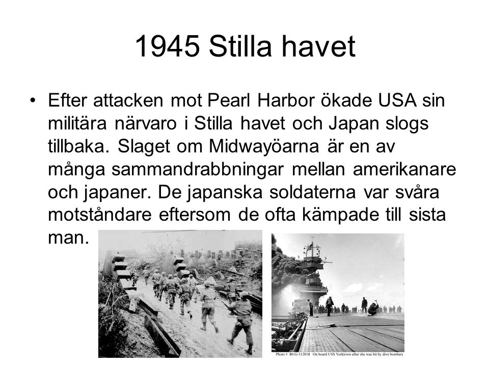 1945 Stilla havet