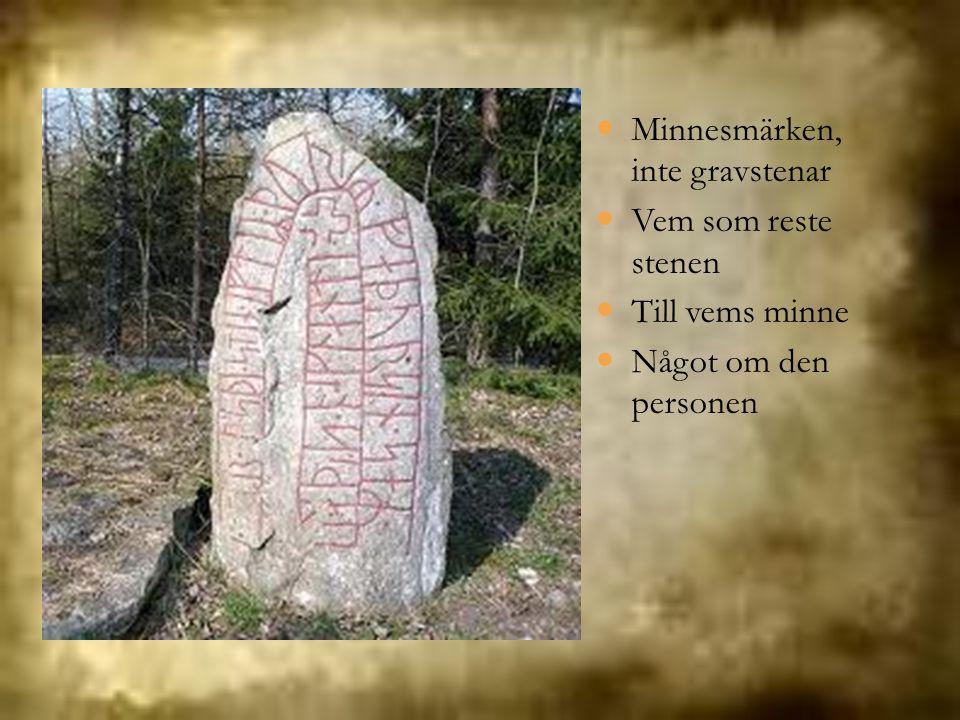 Minnesmärken, inte gravstenar