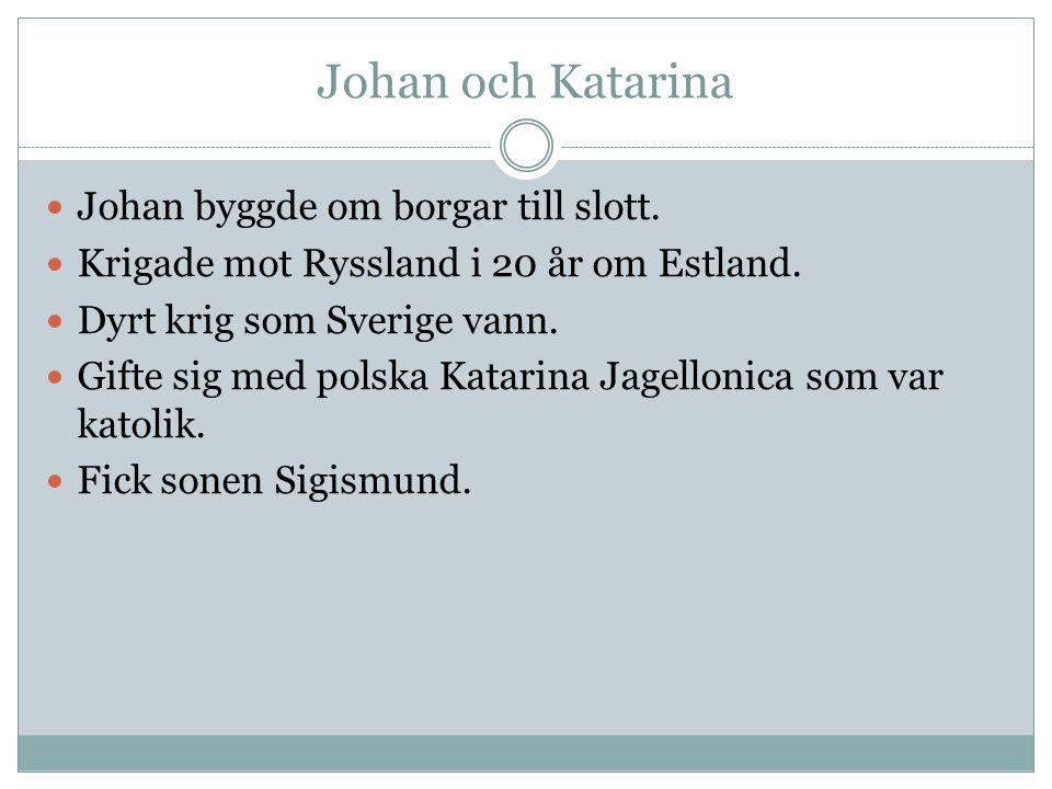 Johan och Katarina Johan byggde om borgar till slott.