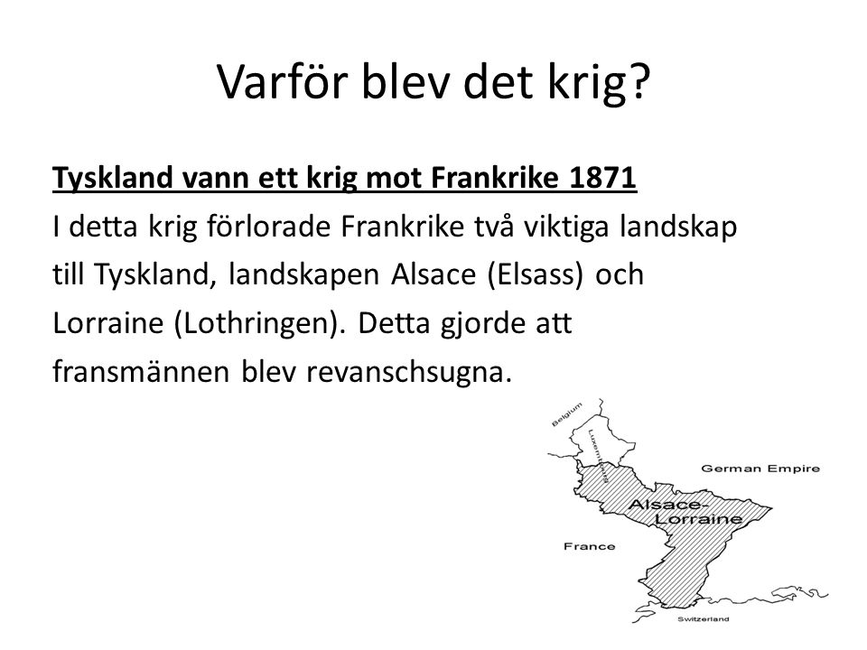 Varför blev det krig Tyskland vann ett krig mot Frankrike 1871