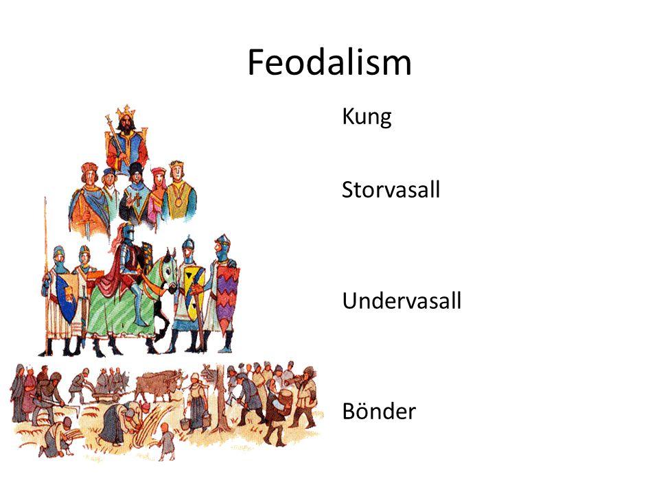 Feodalism Kung Storvasall Undervasall Bönder
