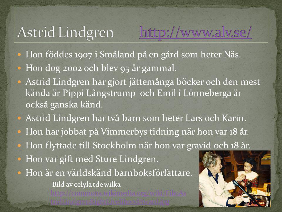 Astrid Lindgren http://www.alv.se/