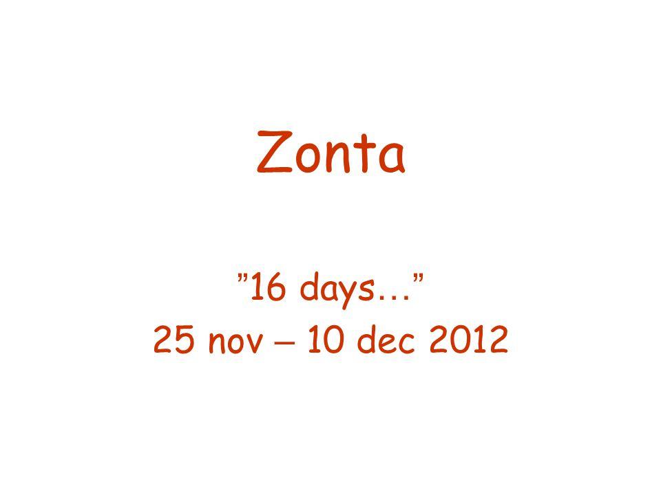 Zonta 16 days… 25 nov – 10 dec 2012