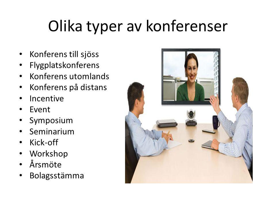 Olika typer av konferenser
