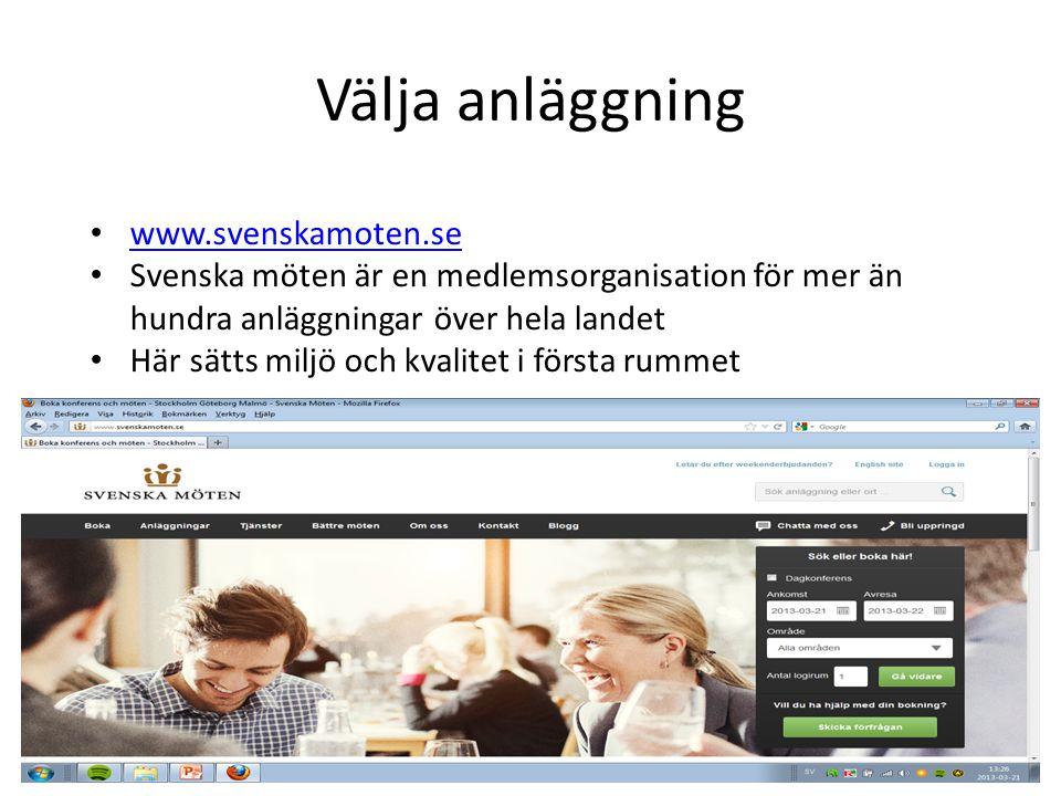Välja anläggning www.svenskamoten.se
