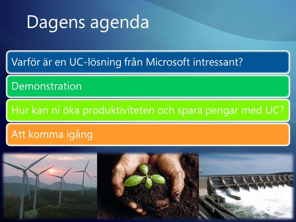 Dagens agenda Varför är en UC-lösning från Microsoft intressant