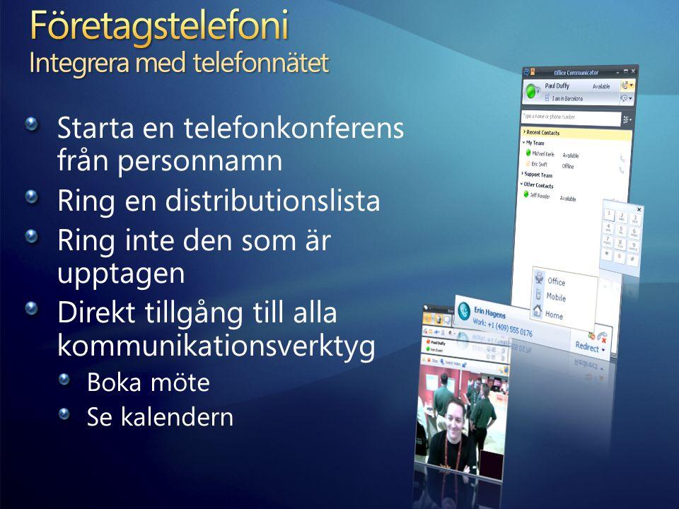 Företagstelefoni Integrera med telefonnätet