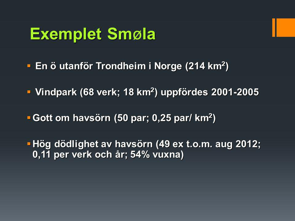Exemplet Smøla En ö utanför Trondheim i Norge (214 km2)