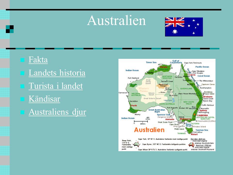 Australien Fakta Landets historia Turista i landet Kändisar