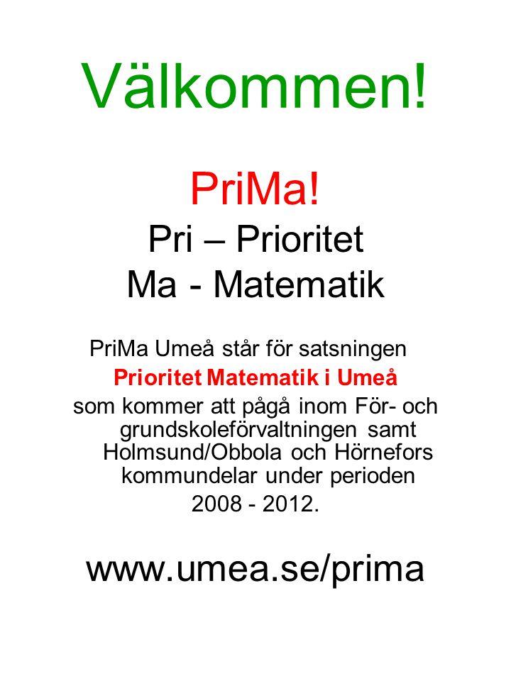 Prioritet Matematik i Umeå