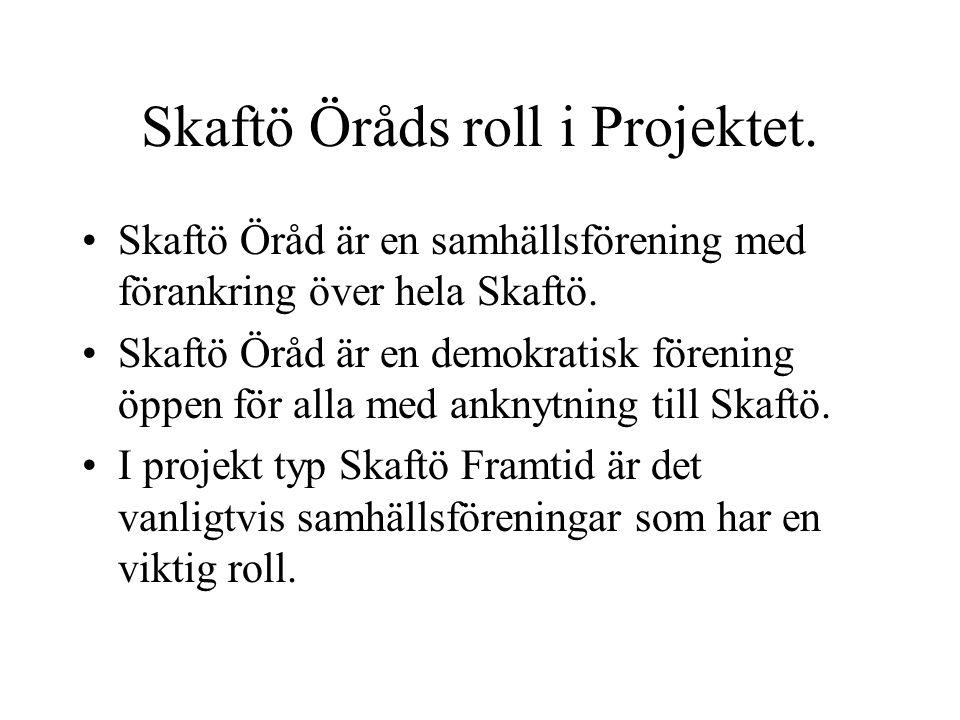 Skaftö Öråds roll i Projektet.
