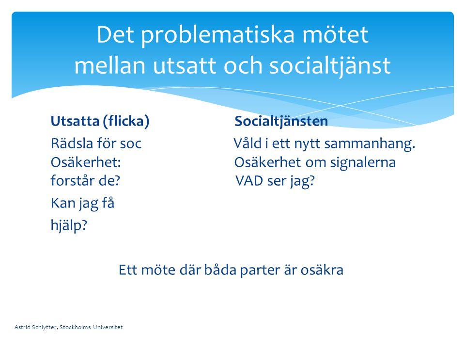 Det problematiska mötet mellan utsatt och socialtjänst