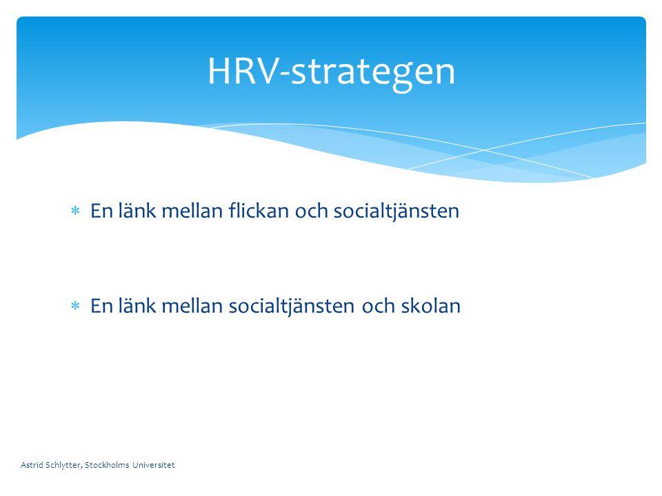 HRV-strategen En länk mellan flickan och socialtjänsten