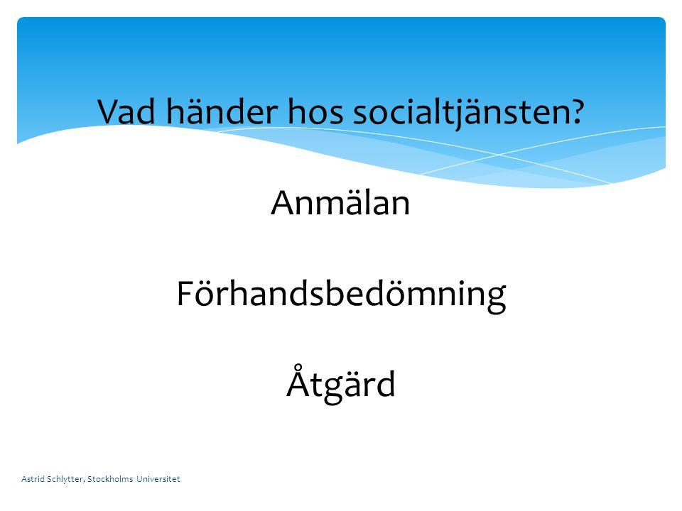 Vad händer hos socialtjänsten Anmälan Förhandsbedömning Åtgärd