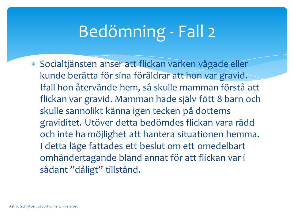Bedömning - Fall 2