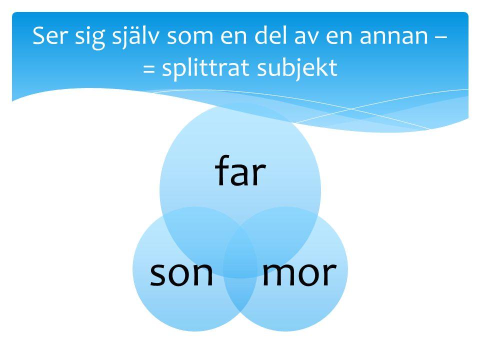 Ser sig själv som en del av en annan –= splittrat subjekt