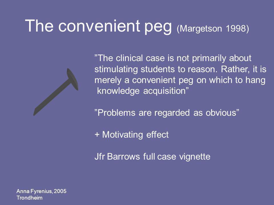 The convenient peg (Margetson 1998)