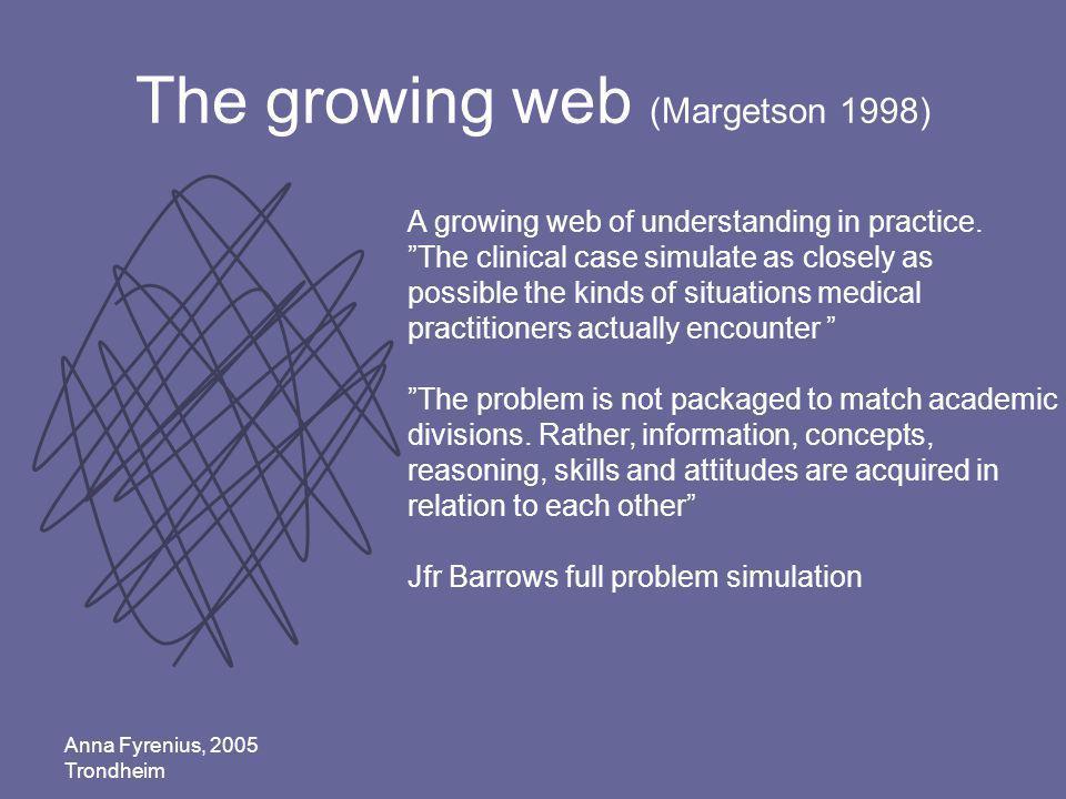 The growing web (Margetson 1998)