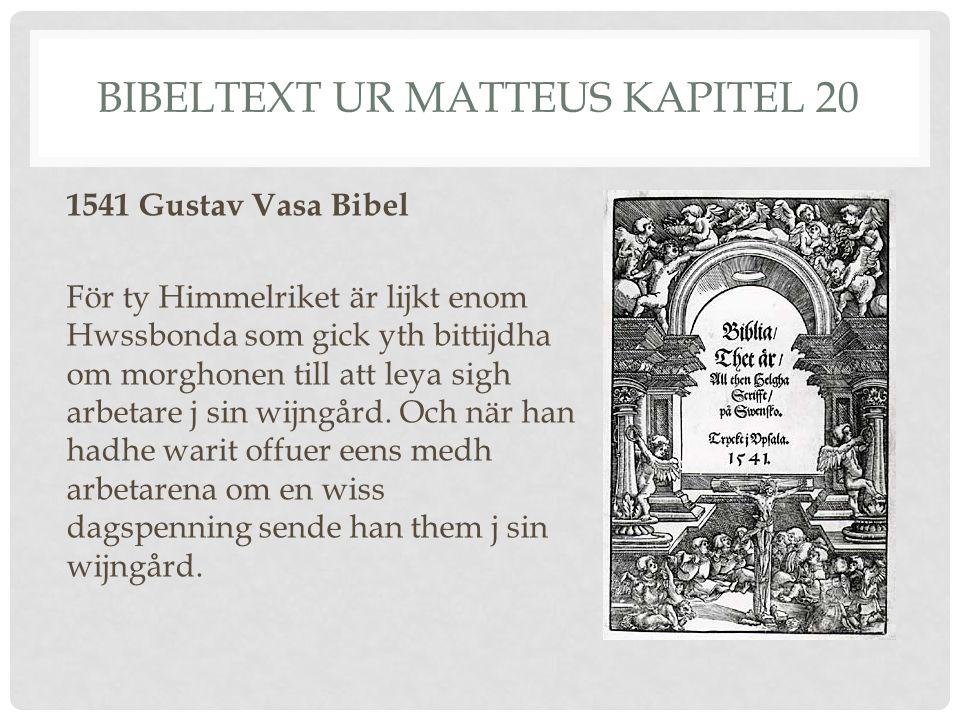 Bibeltext ur Matteus kapitel 20