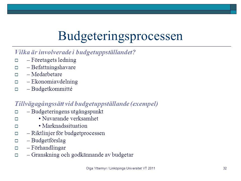 Budgeteringsprocessen