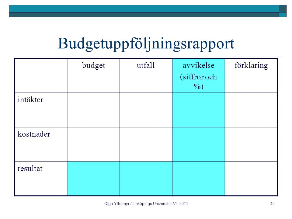 Budgetuppföljningsrapport