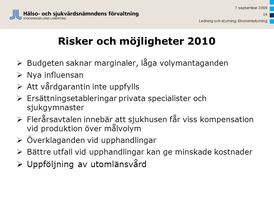 Risker och möjligheter 2010