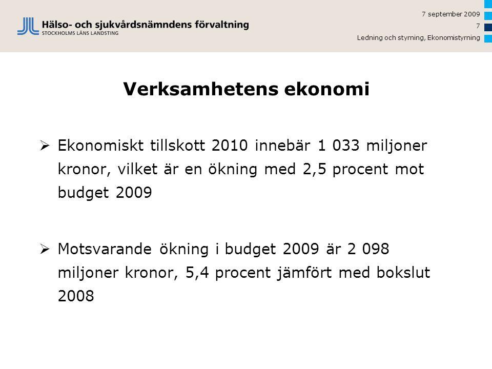 Verksamhetens ekonomi