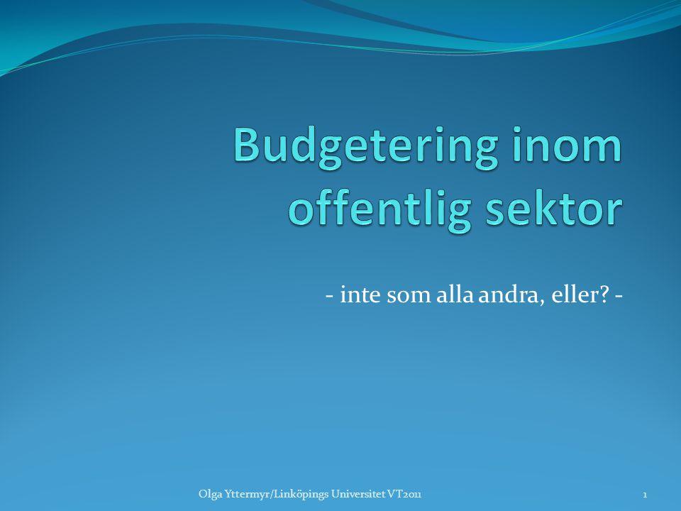Budgetering inom offentlig sektor
