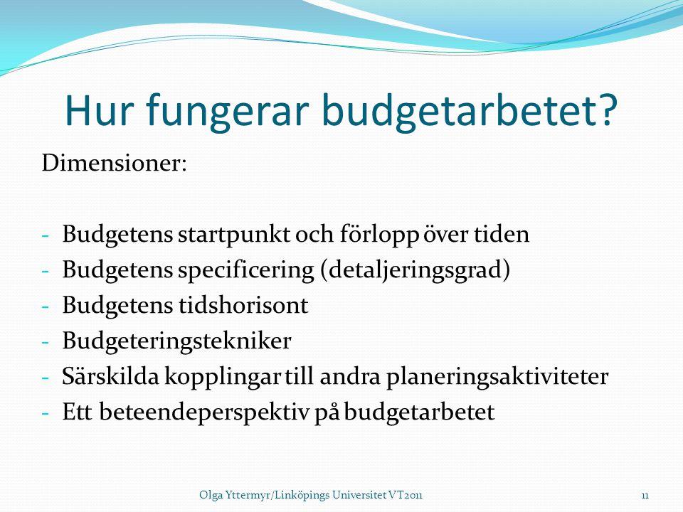 Hur fungerar budgetarbetet