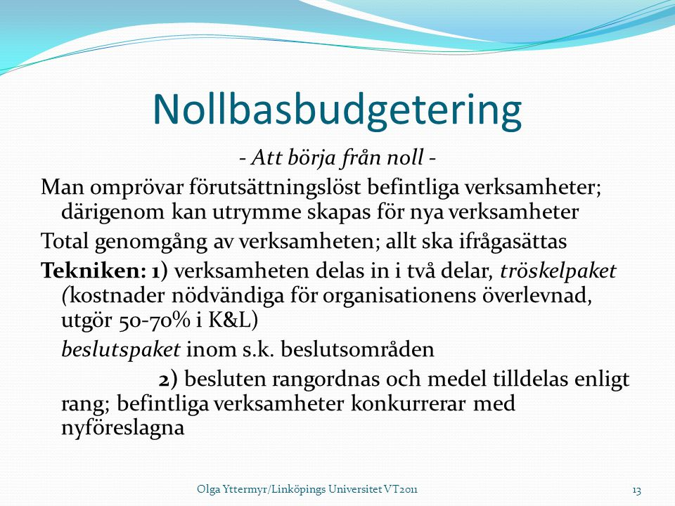 Nollbasbudgetering
