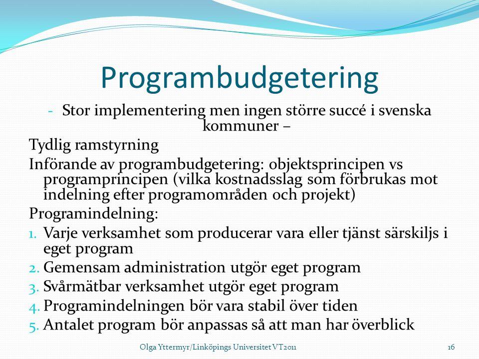 Stor implementering men ingen större succé i svenska kommuner –