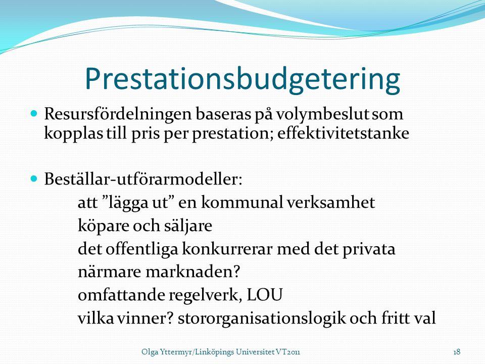 Prestationsbudgetering