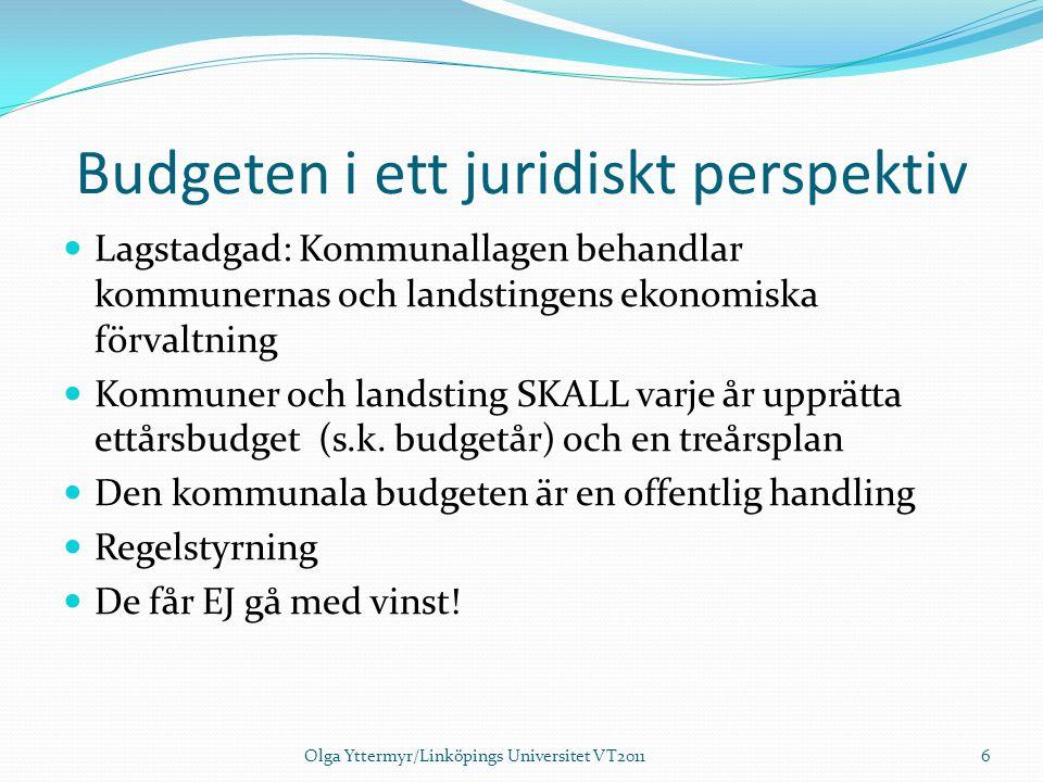Budgeten i ett juridiskt perspektiv