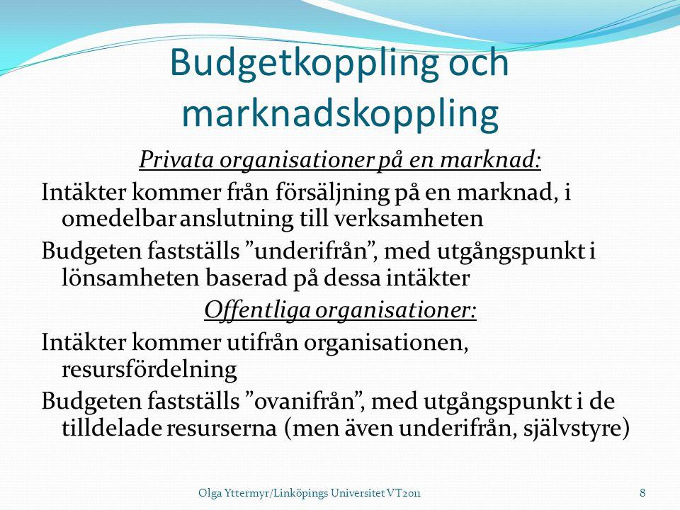 Budgetkoppling och marknadskoppling