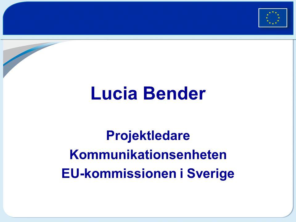 Projektledare Kommunikationsenheten EU-kommissionen i Sverige