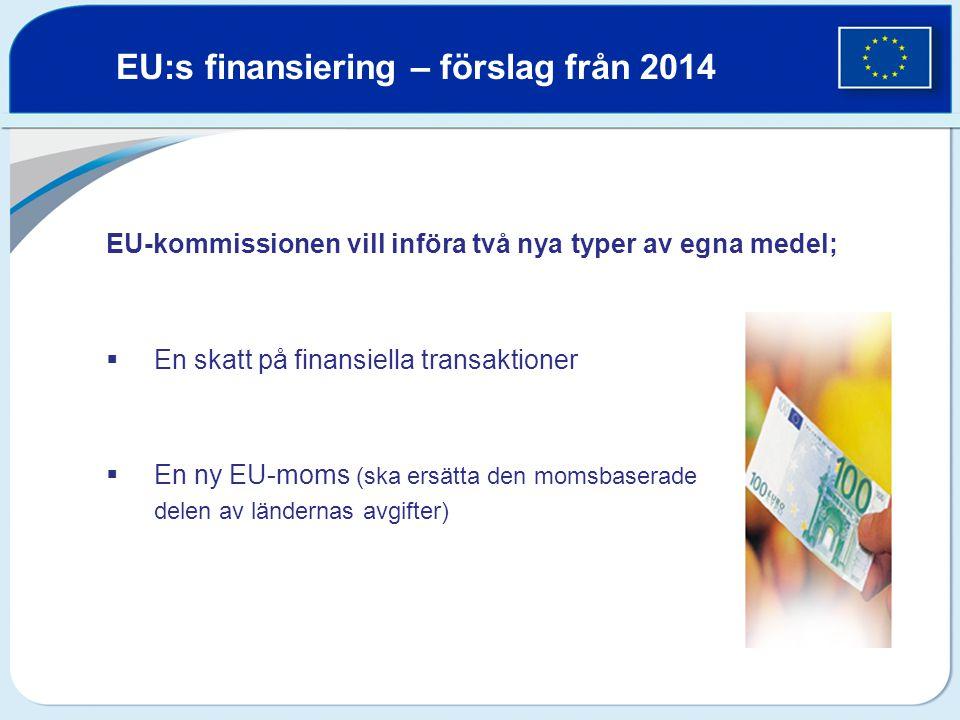 EU:s finansiering – förslag från 2014