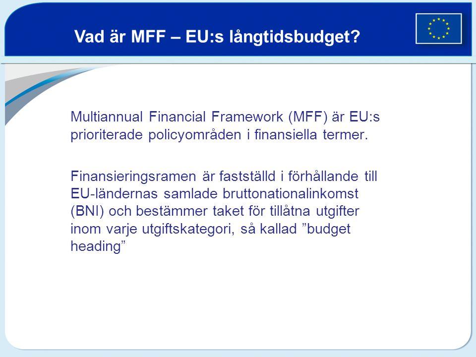 Vad är MFF – EU:s långtidsbudget