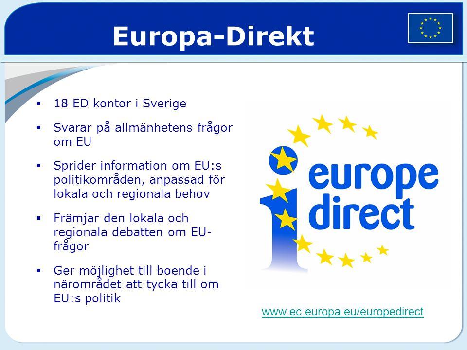 Europa-Direkt 18 ED kontor i Sverige