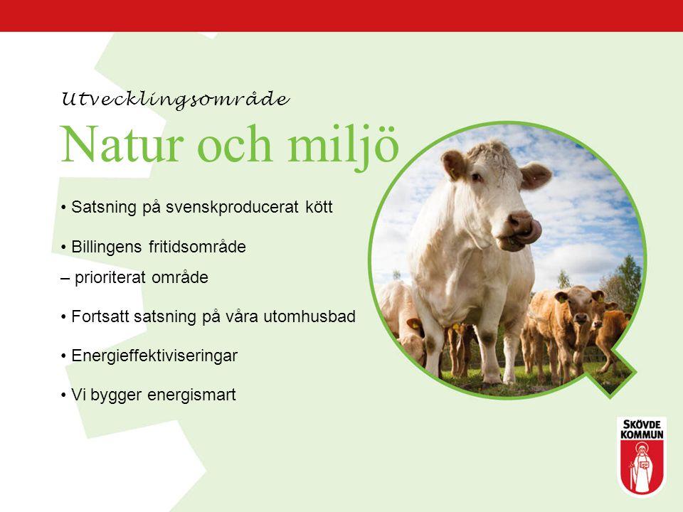 Natur och miljö Utvecklingsområde Satsning på svenskproducerat kött