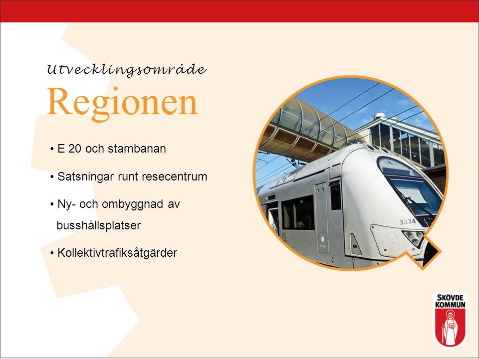 Regionen Ombyggnad av gator kring resecentrum