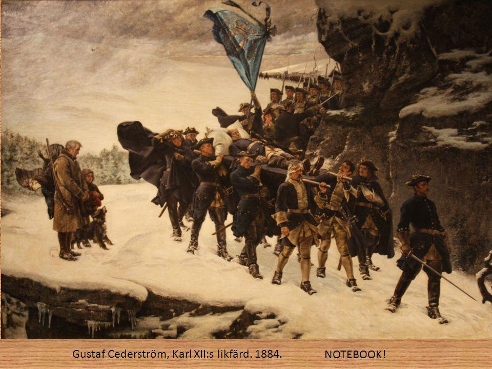 Gustaf Cederström, Karl XII:s likfärd. 1884.