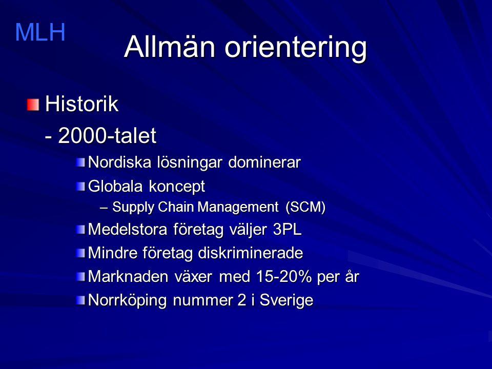 Allmän orientering MLH Historik - 2000-talet