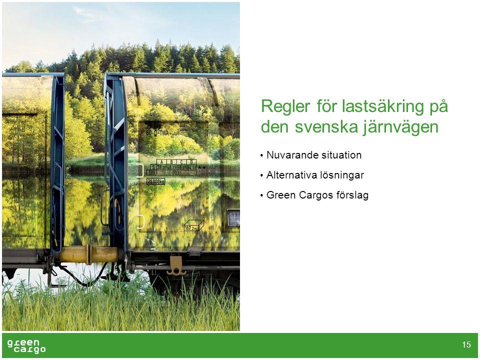 Regler för lastsäkring på den svenska järnvägen